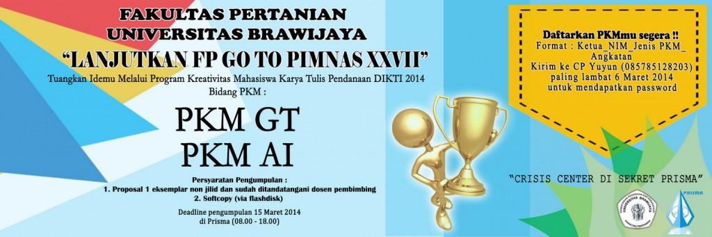 proposal Program Kreativitas Mahasiswa Karya Tulis (PKMKT) yaitu